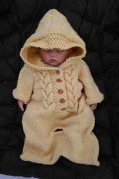 (6) Name: 'Knitting : Top Down Baby Bunting