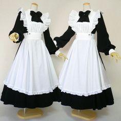 트위터 maid cosplay, lolita cosplay, maid outfit, maid dress, victorian m Victorian Maid, Cute Dresses, Cute Outfits, Lolita Cosplay, Maid Cosplay, Maid Outfit, Gothic Lolita, Lolita Style, Gothic Girls