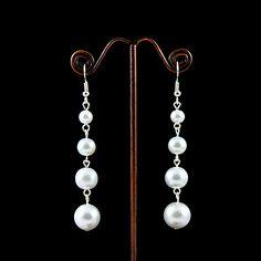Pendientes de perlas de imitación con aleación de planchas de novia – EUR € 12.37