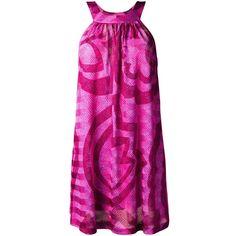 Missoni printed short dress ($970) ❤ liked on Polyvore featuring dresses, pink, short dresses, mini dress, pink mini dress, missoni dress and missoni