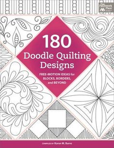 The 100 best quilting books, such as WALK, All Points Patchwork, 180 Doodle Quilting Designs and Machine Quilting With Style. Quilting Stencils, Quilting Templates, Longarm Quilting, Quilting Tutorials, Quilting Projects, Quilting Ideas, Machine Quilting Patterns, Quilt Patterns Free, Machine Quilting Tutorial