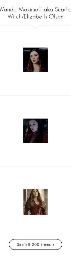 """""""Wanda Maximoff aka Scarlet Witch/Elizabeth Olsen"""" by kelseystan97 ❤ liked on Polyvore featuring marvel, avengers, accessories, elizabeth olsen, people, scarlet witch, wanda maximoff, icon, marvel icons and delete"""
