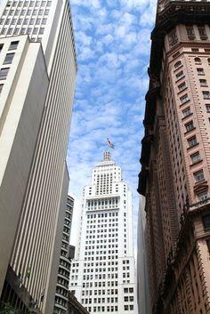 Places: SP Downtown skyscrapers, Sao Paulo, Brazil. (Banespa building) - Obrigado Elisabete