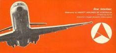 Ansett Airlines of Australia Interline Passenger Ticket Cover