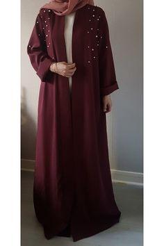 Abaya kimono PERL burgundy