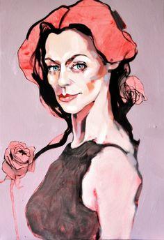 Dominik Jasiński, Three roses, 2011 #art #contemporary #artvee