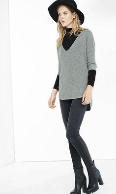 Metallic Express London Tunic Sweater | Express