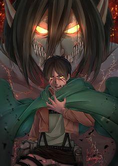 HD wallpaper: eren jaeger, shingeki no kyojin, titan, attack on titan, Anime