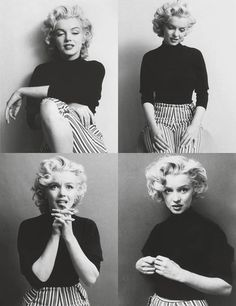 Marilyn Monroe in black and white everything!