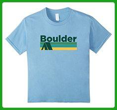 Kids Retro Camping - Boulder Colorado T-Shirt 6 Baby Blue - Retro shirts (*Amazon Partner-Link)