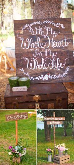 Carteles en bodas