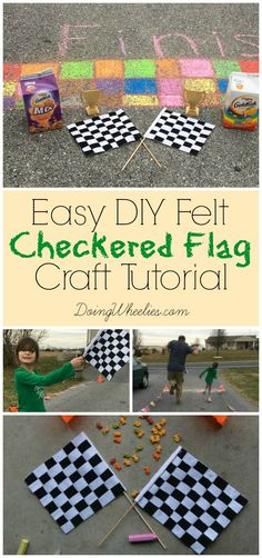 028a16bc5ff Looking for the perfect springtime outdoor play inspiration  This diy  checkered flag craft was the