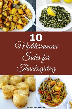 Mediterranean Side Dishes that will satisfy everyone! And you can make ahead! #healthyrecipes #healthythanksgiving #thanksgiving #vegetarian #mediterraneanfood #greek