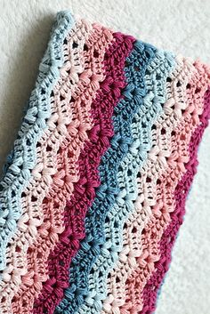 Crochet Ruby Baby Blanket - Free pattern! Download for Free! #patternsvalley #crochet