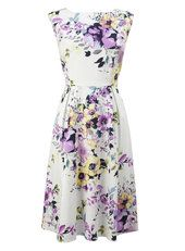 Ivory Multi Floral Soft Prom Dress