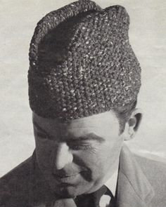 Knitting Pattern Vintage Hat : 1000+ images about mens knit hats on Pinterest Knitting ...