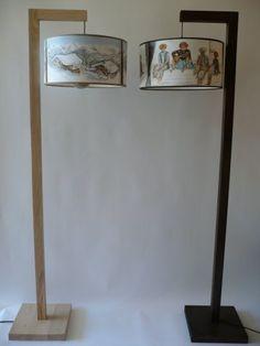 Lampadaire bois brut et ébène (Cliquez pour revenir ´ la collection)
