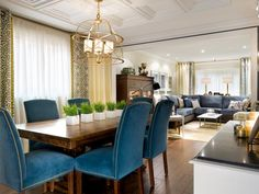 Curtains Transitional   Dining Rooms   Emily Johnston Larkin : Designer Portfolio : HGTV - Home & Garden Television