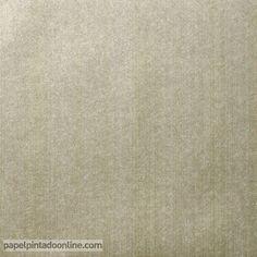 Papel Pintado Milan CO00132, papel liso caqui con rayas verticales metalizadas.