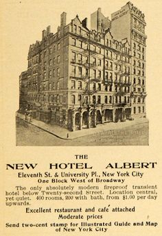Hotel Albert, New York | hotel lodging albert 11 street new york city rock roll restaurant cafe
