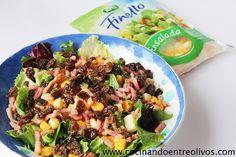 Ensalada Arla (1) Queso, Sprouts, Potato Salad, Potatoes, Vegetables, Cooking, Ethnic Recipes, Food, Raisin