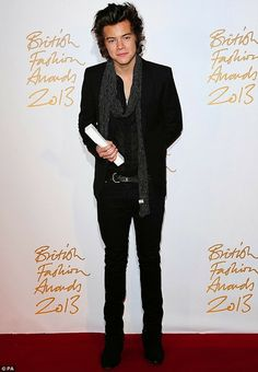 Celeb Diary: Harry Styles @ 2013 British Fashion Awards