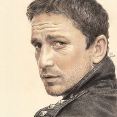 Gerard Butler by Susie-K (color pencil drawing)  | First pinned to Celebrity Art board here... http://www.pinterest.com/fairbanksgrafix/celebrity-art/ #Drawing #Art #CelebrityArt