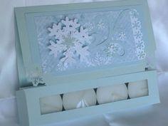 Snowflake Christmas Greeting Card, Paper handmade greeting card, Christmas Tealight Candle Card