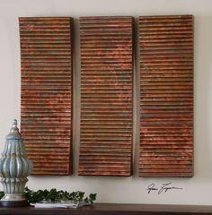 Uttermost Adara Copper Wall Art S/3