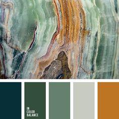 In Color Balance: Color Palette No. Colour Pallette, Colour Schemes, Color Combos, Brown Colour Palette, Kitchen Color Schemes, Earth Colour Palette, Green Pallete, Earth Colours, Color Schemes Colour Palettes