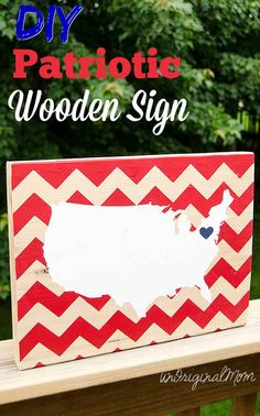DIY Patriotic Wooden Sign made with your Silhouette
