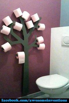 Funky toilet roll holder