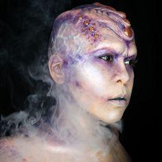 Aurora Alien Makeup