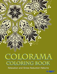 Colorama Coloring Book Adult Stress Relieving Patterns By V Art