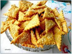 Slané syrovo-šunkové krekry (fotorecept) - My site Snack Recipes, Dessert Recipes, Cooking Recipes, Snacks, Desserts, Apple Pie, Crackers, Pizza, Chips