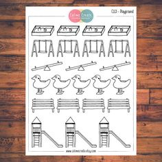 Playground Planner Stickers Doodle Planner Stickers Play