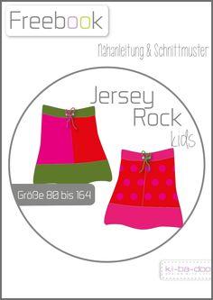 Freebook Basic-Jersey-Rock Kids - Schnittmuster und Anleitung als PDF, versandkostenfrei