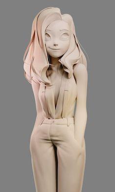 ArtStation - Girl, Pablo Dobarro - Jeena F. 3d Character Animation, Zbrush Character, 3d Model Character, Character Modeling, Character Art, Character Concept, 3d Modeling, 3d Animation, Blender 3d