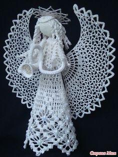 Что-то давно я ни чем ни хвалилась. Вот насобиралось, выставляю на Ваш суд. Связала наконец для себя шапку, долго я решалась. Правда ни с первого раза получилось, но все таки я ее осилила. Crochet Angel Pattern, Crochet Angels, Crochet Doily Patterns, Thread Crochet, Crochet Designs, Knitting Designs, Crochet Doilies, Easter Crafts, Christmas Crafts