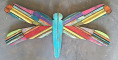 Symbolizing Good Luck, prosperity, peace and harmony, I would say we all could use a little drangonfly in our lives! Reclaimed Wood Art, Peace And Harmony, Find Objects, Wall Sculptures, Craft Supplies, Handmade Items, Artwork, Crafts, Etsy