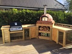 June Oven of the Month 2015 - Mezzo 76 Go - The Stone Bake Oven Company Outdoor Bbq Kitchen, Pizza Oven Outdoor, Outdoor Kitchen Design, Outdoor Cooking, Outdoor Kitchens, Patio Design, Outdoor Rooms, Outdoor Living, Patio Grill