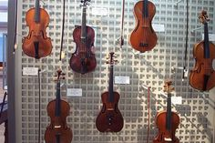 Violins, Musical Instrument Museum, Hamamatsu, Japan     Classic musical instruments
