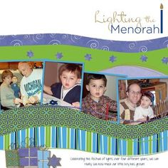 Lighting the Menorah Digital Scrapbooking Layout from Creative Memories
