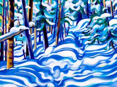 "Tracy Turner New Works Gallery ""Trail in the Forest, After Snowfall"". Oil on panel. Turner Painting, Calendar Pictures, Winter Images, Southwest Art, Cool Art Drawings, Abstract Landscape, New Art, Folk Art, Artist"