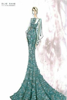 Elie Saab Fashion llustration