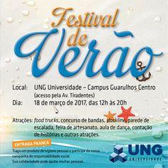 Festival de Verão da Universidade UNG será no próximo sábado (18)