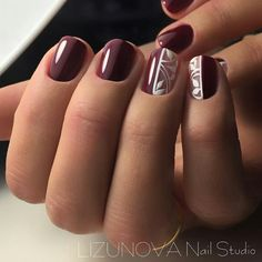 Christmas Nail Designs - My Cool Nail Designs Aycrlic Nails, Hot Nails, Hair And Nails, Tulip Nails, Flower Nails, Christmas Nail Designs, Christmas Nails, Maroon Nails, Manicure E Pedicure