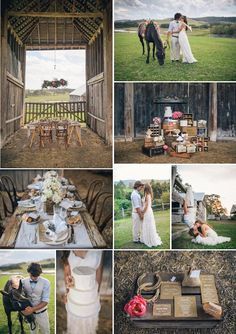 Rustic Country Barn Wedding by Sugar Coated Mama in Australia via Kara's Party Ideas KarasPartyIdeas.com