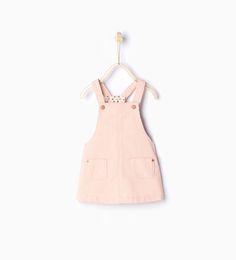 Image 1 of Corduroy pinafore dress from Zara Zara Kids, Baby Girl Dresses, Little Dresses, Baby Dress, Fashion Kids, Corduroy Pinafore Dress, What To Wear Fall, Corduroy Overall Dress, Kids Dress Up
