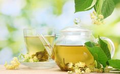 Linden tea on a pot Free HD Wallpaper